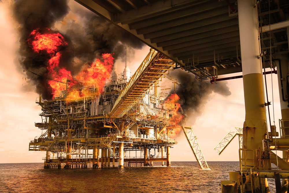 Blast protection for offshore oil and gas