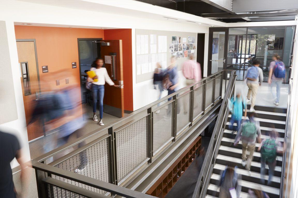 corridor in a school