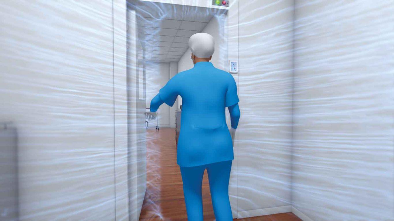 Isolation room airflow