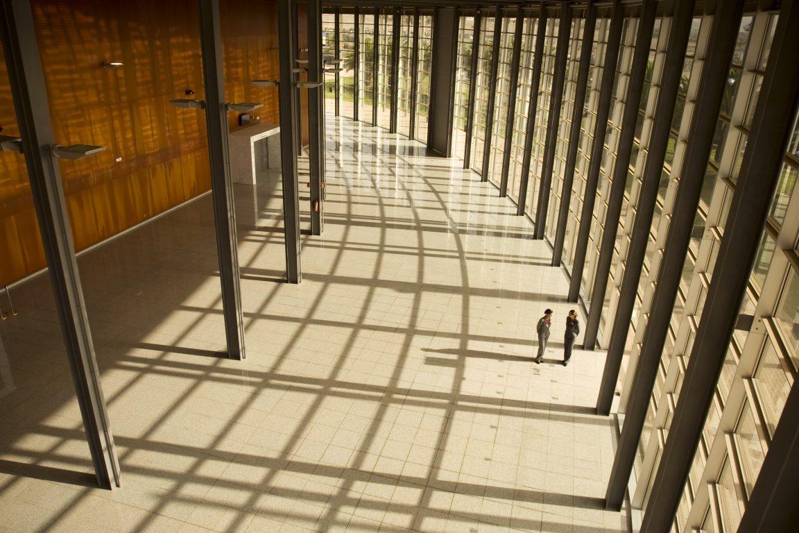 Hotel venue space corridor