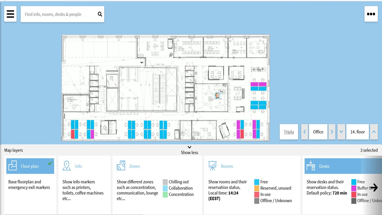 Emphatic building Occupancy floor layout