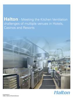 Belüftung von Restaurantküchen - Hotel Resorts Casinos Broschüre