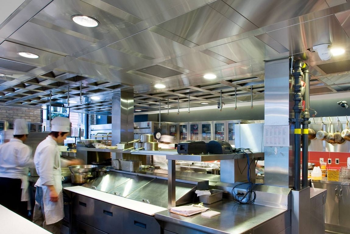 Teaching Kitchen Ventilation Ventilated Ceiling