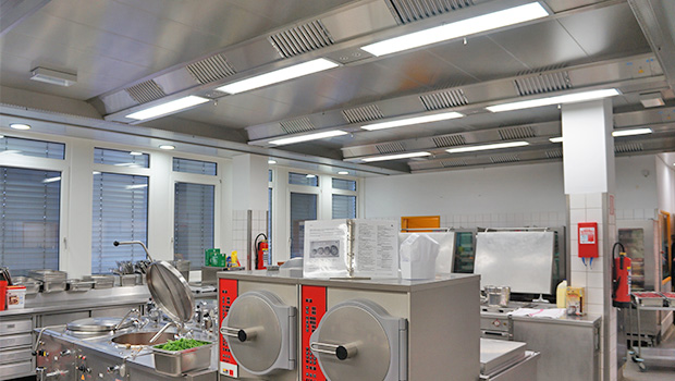 BGR has chosen Halton Solutions for the ventilation of their kitchen