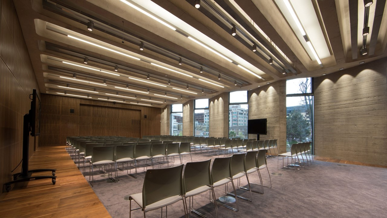 Royal college of pathologists, passive beams from Halton in auditorium