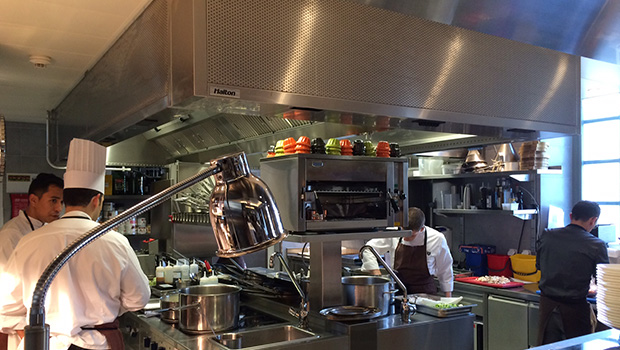 Royal Savoy Lausanne has chosen Halton Solutions for the ventilation of their kitchen