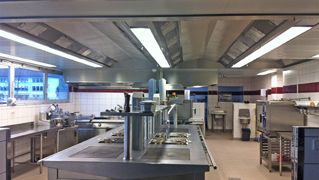 Toussaint Louverture Vocational School has chosen Halton Solutions for the ventilation of their kitchen
