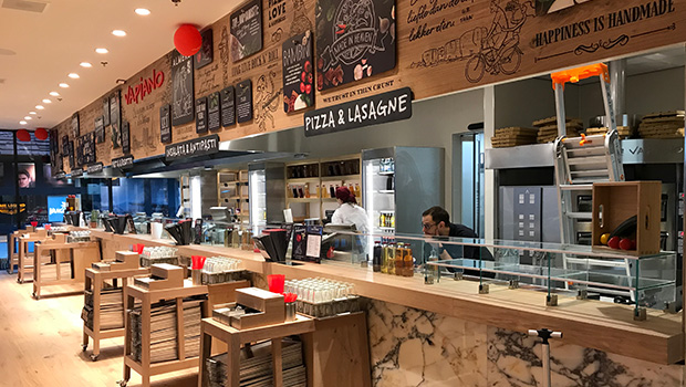 Vapiano Almere has chosen Halton Solutions for the ventilation of their kitchen