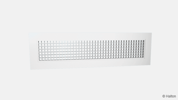 Exhaust grille high airflow