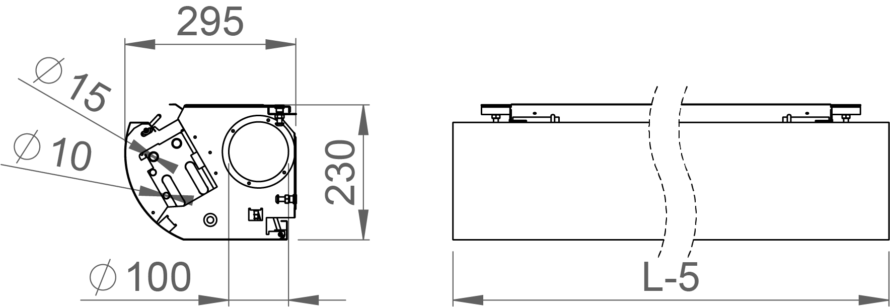 Pipe Connections of the Halton CaBeam Chilled Beam for Exposed Installation