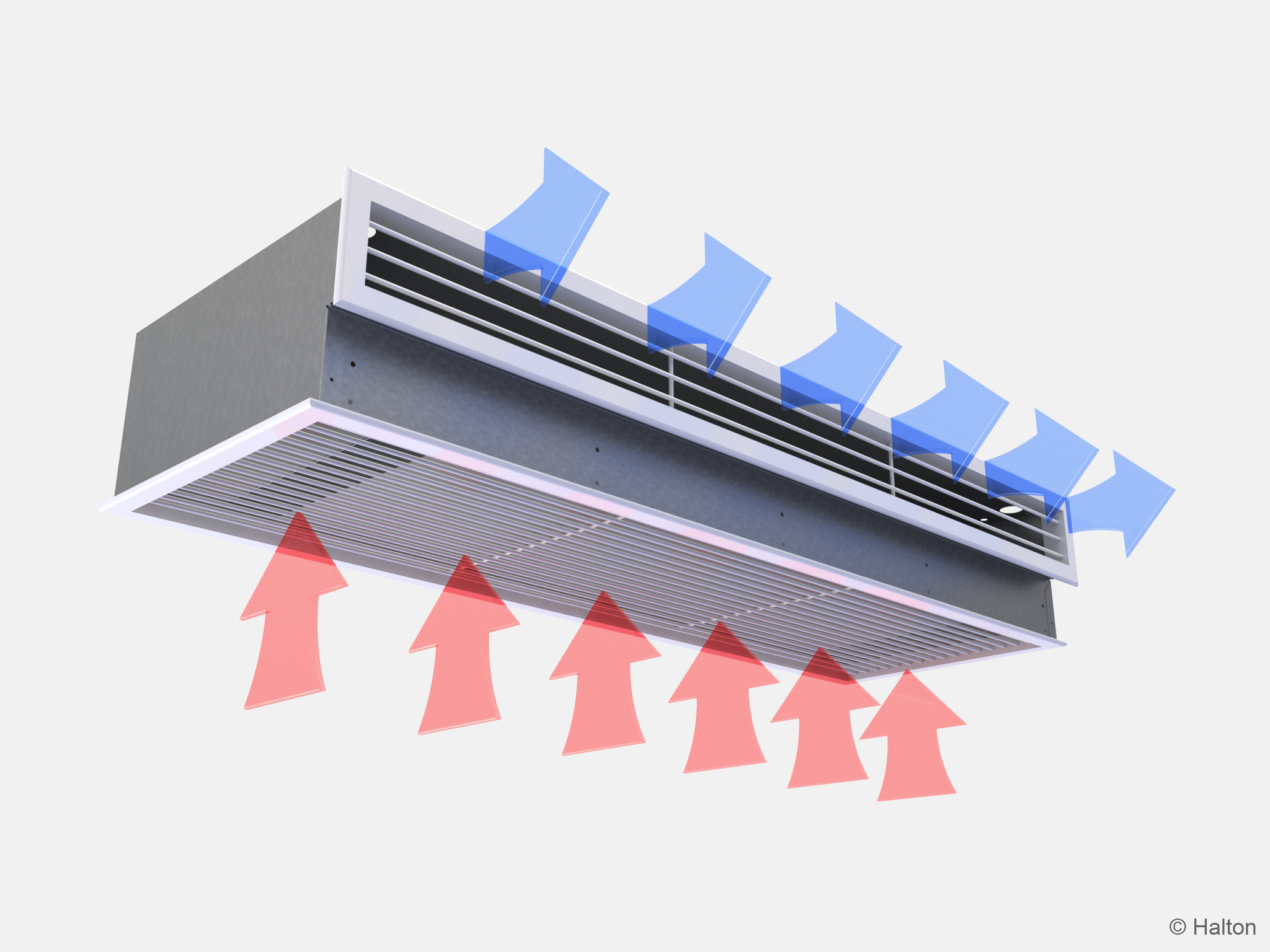 Function of the Halton CaBeam Chilled Beam for Integrated Installation