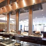 JES design kitchen hood with Jet Extraction System