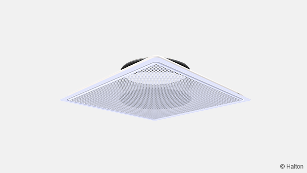 Suspended perforated diffuser
