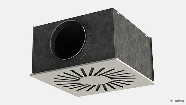 fancoil swirl diffuser unit