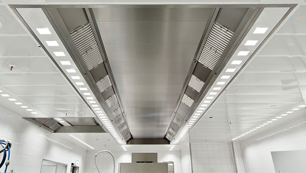 KCV ventilated ceiling for dishwashing areas