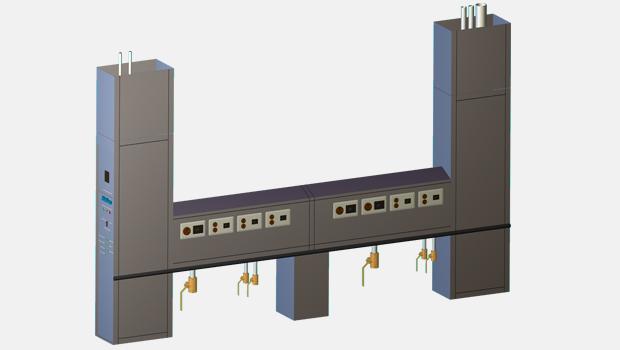 Halton KDS-W kitchen utility distribution system