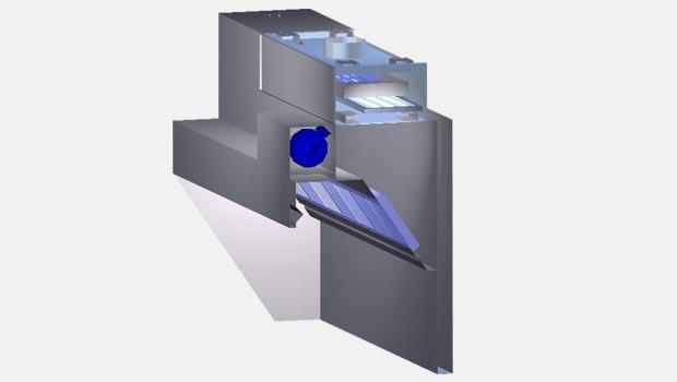 Halton KVL-UV low profile UV exhaust hood