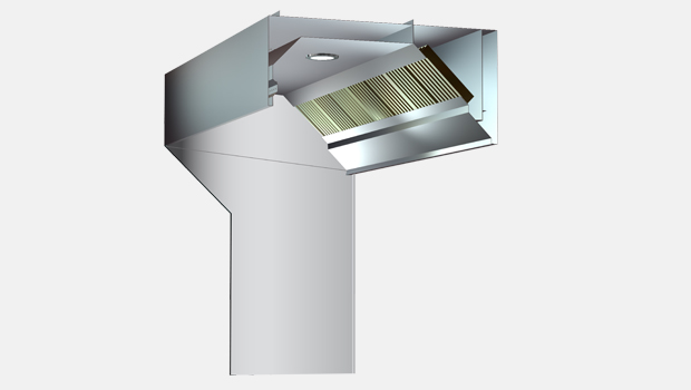 Haton KVM backshelf exhaust hood