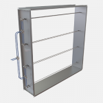 Rectangular airflow measurement unit