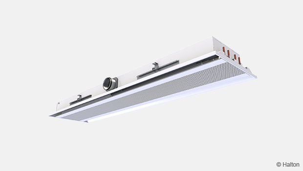 Ceiling integrated beam