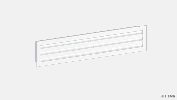 High airflow linear diffuser