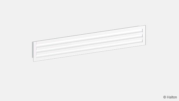 Linear slot diffuser supply