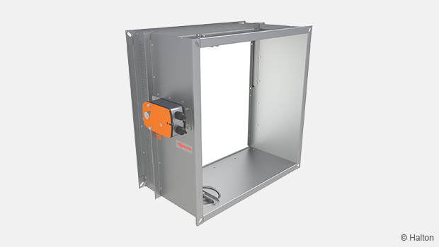 Automatically activated rectangular damper