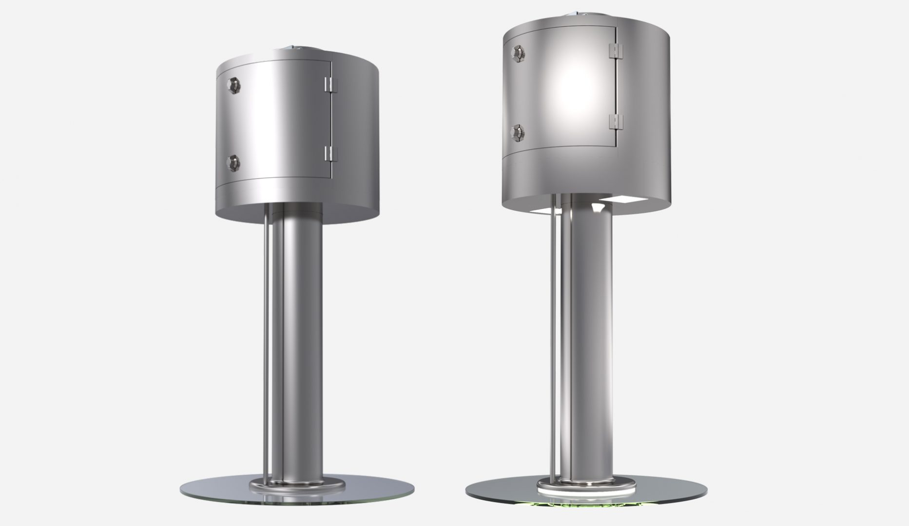 JES-RD round design kitchen hood with Jet Extraction System