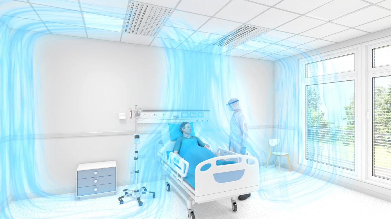 protective airflow in Isolation room