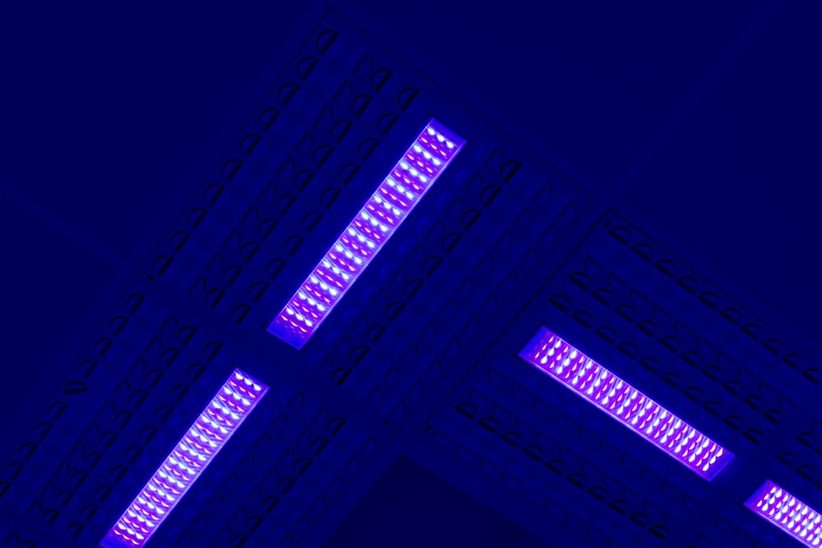The benefits of the disinfection blue light system integrated