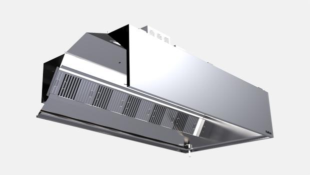 Halton Capture Jet KCH Continuous Mist Kitchen Exhaust Hood-Cutaway