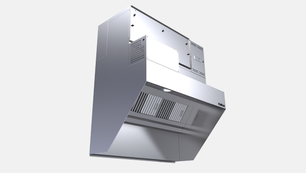 Halton Capture Ray KVL-UV Low Profile Kitchen Exhaust Hood with UV