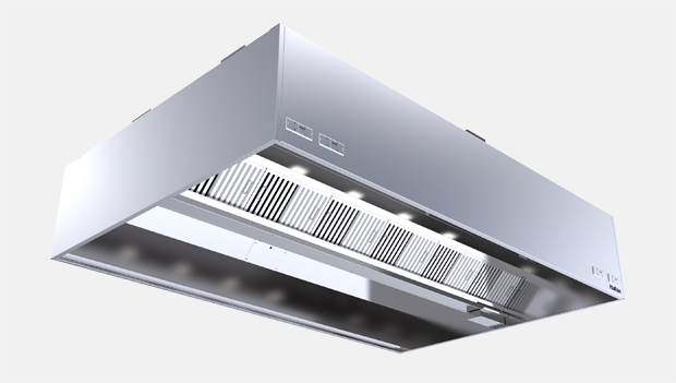 Halton Capture Ray KVW-UV Island Kitchen Exhaust Hood with UV